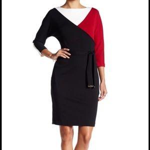 Ellen Tracy Dress Color Block NWT S 16